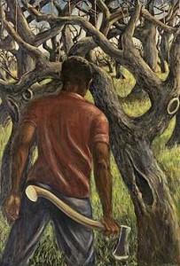 """Spring Pruning"" (1966) by Rex Goreleigh"