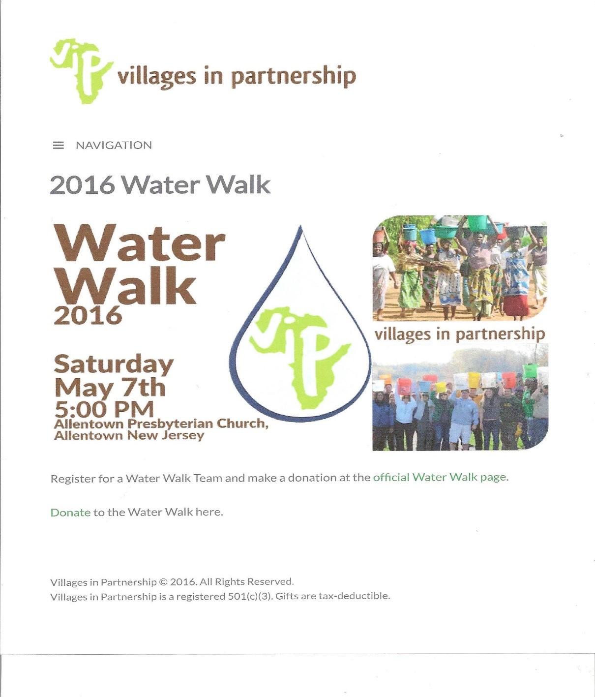 Water Walk 2016